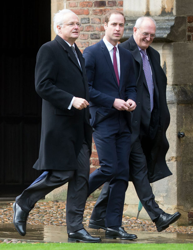 Prince William at St John's College for his first day as a full-time Cambridge University student, Britain - 07 Jan 2014
