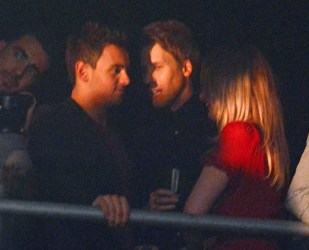 Tom Daley and Dustin Lance Black in the audience watching the show, 4 January 2013