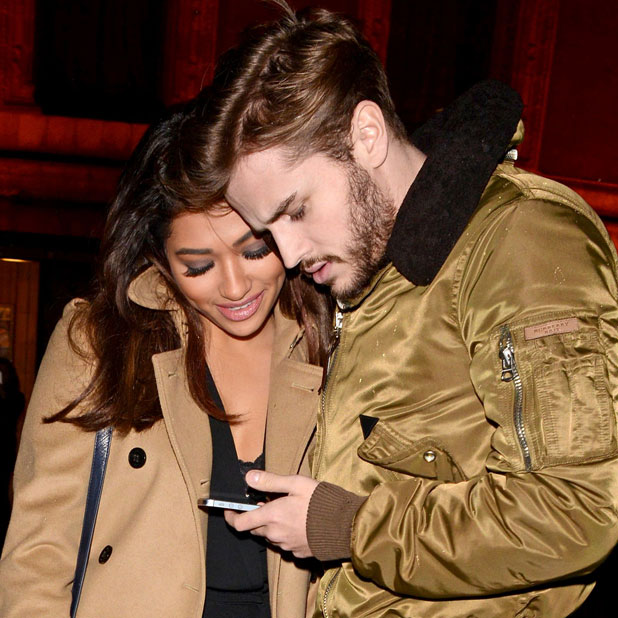 Vanessa White and boyfriend Gary Salter attend Cirque ...