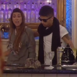 Celebrity Big Brother - Lionel Blair has blazing row with Luisa Zissman. Dappy tries to calm the situation. (Wednesday 15 January).
