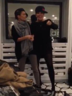 Nicole Richie and Kris Jenner rap together in Kim Kardashian's Keek video - 16 Jan 2014