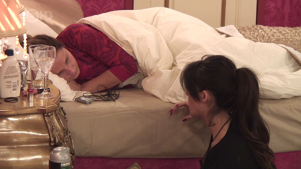 Casey Batchelor is seen talking to Sam Faiers about Lee Ryan on 'Celebrity Big Brother', shown on ITV1 HD - 13 Jan 2014