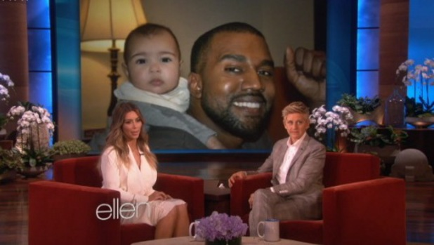 Kim Kardashian shares new pictures of North and Kanye West on The Ellen Show - 17 January 2014