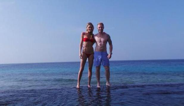 Ronan Keating and girlfriend Storm Uechtritz holiday in the Maldives - January 2014