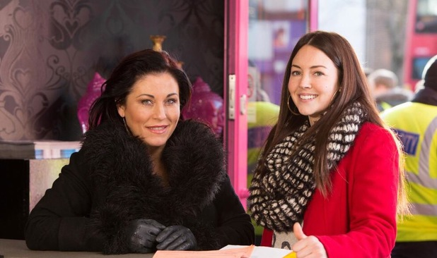 Lacey Turner and Jessie Wallace pictured on the set of EastEnders together again - 16 January 2014