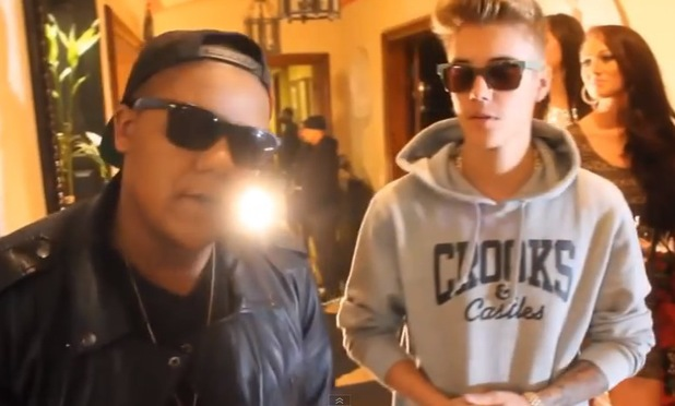 Scott Disick stars in Tyga's new music video for 'Wake Up In It' - January 2014 Justin Bieber makes a cameo