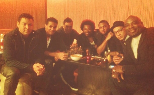 The Big Reunion series two: 3T and Damage pictured during night out - 15 Jan 2014