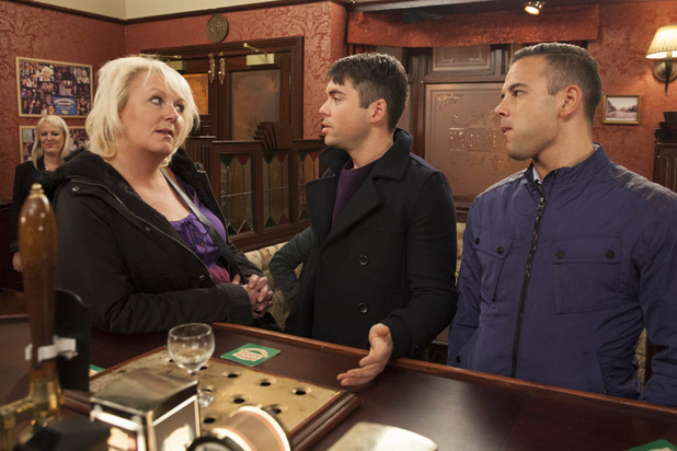 Corrie, Eileen makes Todd apologise, Wed 15 Jan