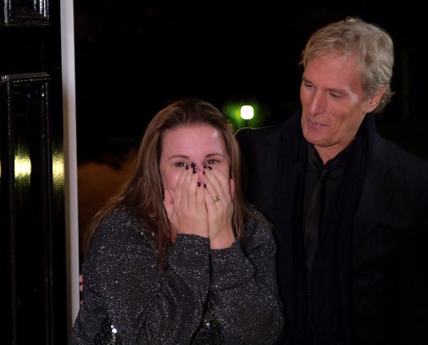 The X Factor - Michael Bolton surprises Sam Bailey at the house to give her some advice during 'Big Band Week' on 'The X Factor', Shown on ITV1 HD. 11/11/2013.