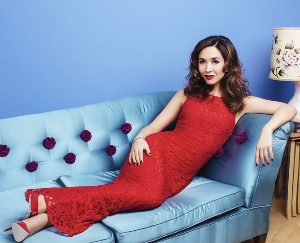 Myleene Klass models her new spring/summer 2014 range for Littlewoods