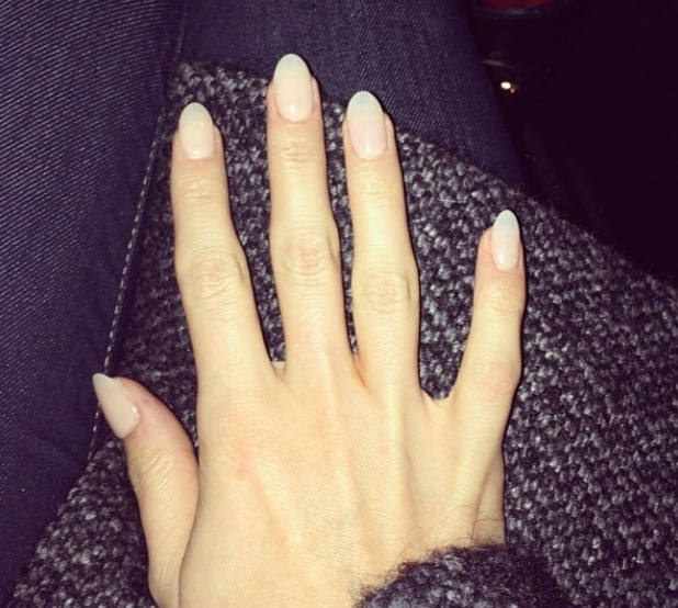 Millie Manderson (nee Mackintosh) shows off new gel nails, 13 January 2014