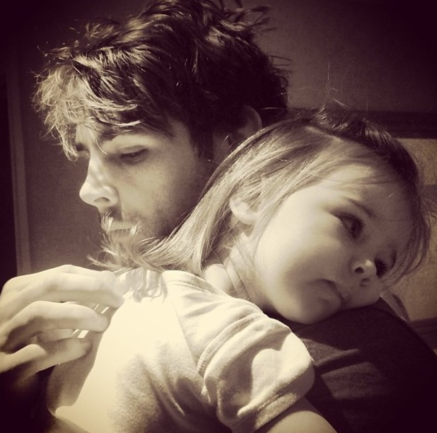 Ben Foden and daughter Aoife Belle - 15.1.2014