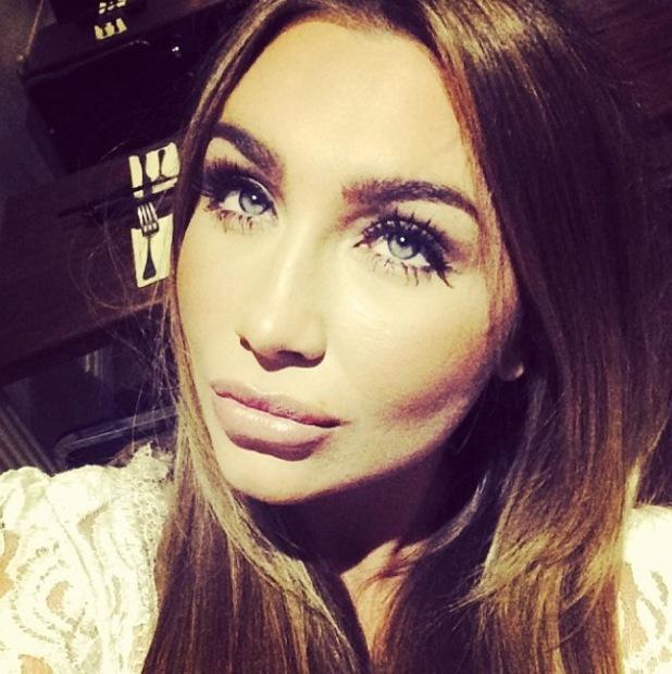 Lauren Goodger posts selfie showing long lashes - January 2014