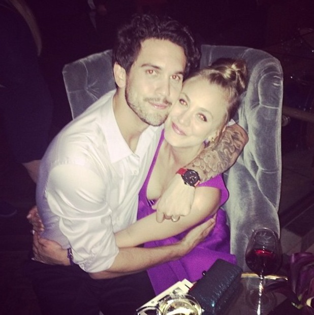 Kaley Cuoco and Ryan Sweeting pictured on 12 January.