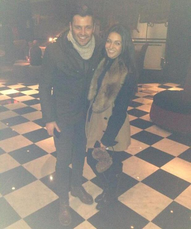 Mark Wright pictured with Michelle Keegan at the Malmaison in Manchester - 13 Jan 2014