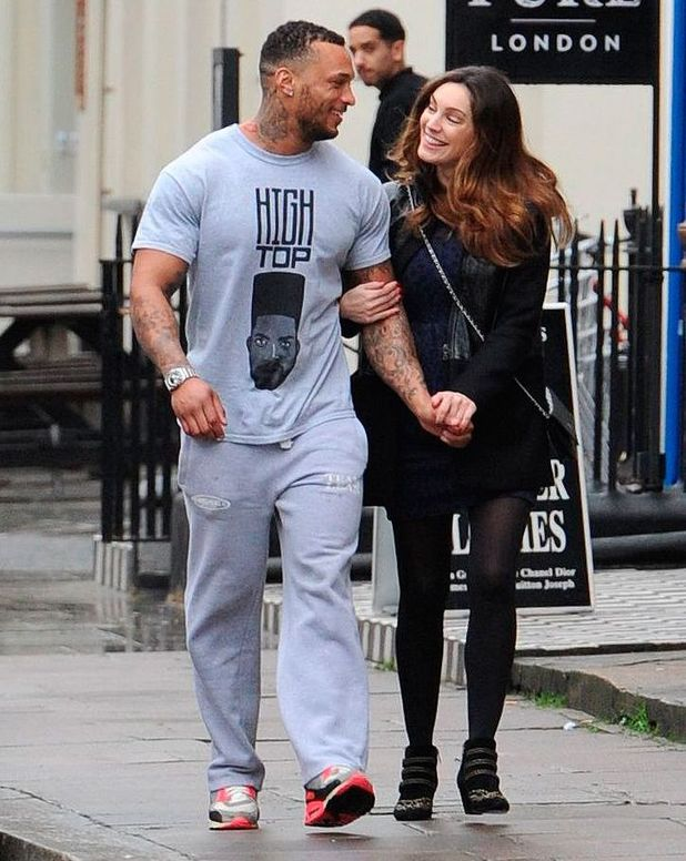Kelly Brook out and about, London, Britain - 15 Jan 2014 - with rumoured boyfriend David McIntosh
