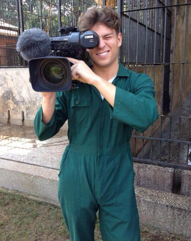 TOWIE's Joey Essex turns cameraman during his trek in Africa. (16 January 2014).