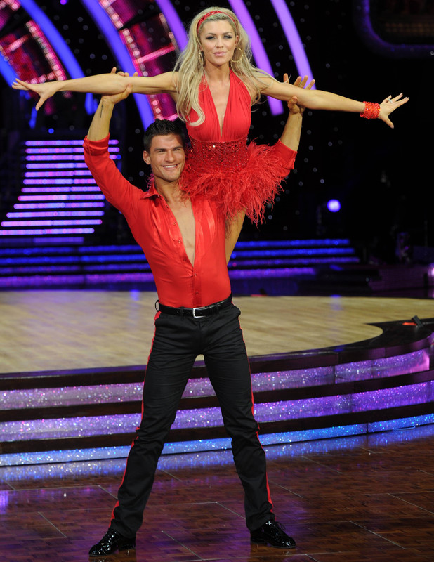 Celebrities and Professional dancers at the Strictly Come Dancing Live Tour at the NIA Arena Birmingham, UK. Abbey Clancy, Aljaz Skorjanec - 16 January 2014