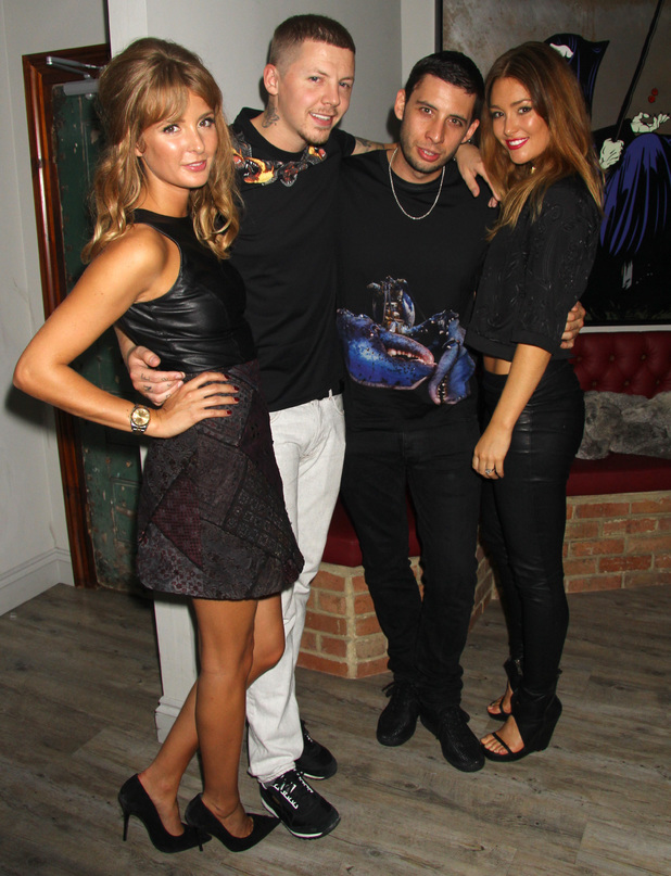 Millie Mackintosh and Professor Green with Example and his wife Erin McNaught, Green Thursdays Launch New Club Night at INK, Leicester Square, London, Britain - 03 Oct 2013