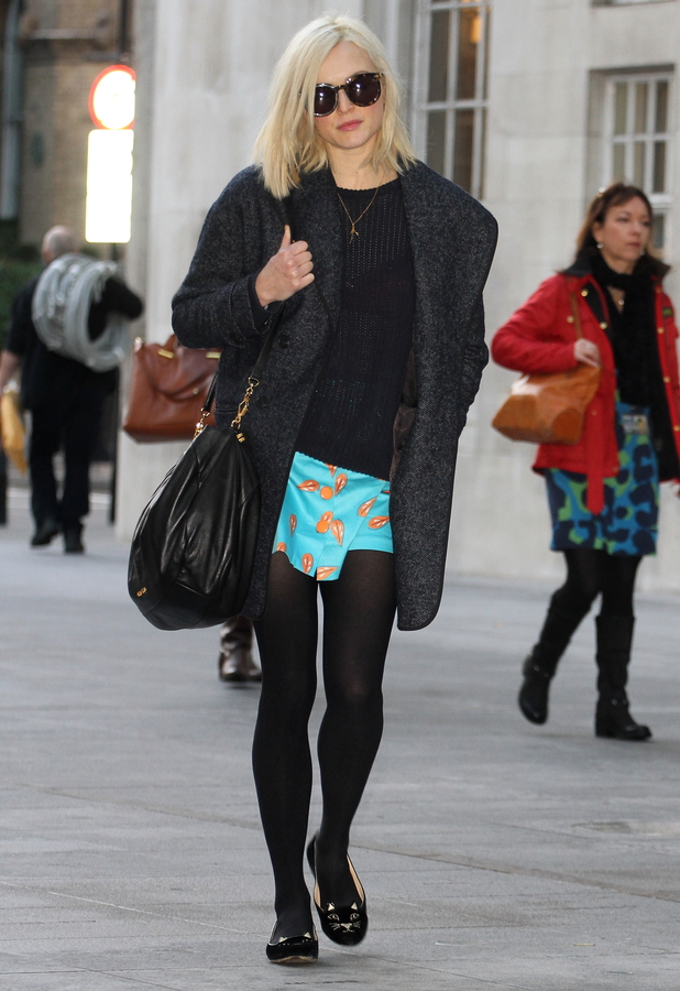 Fearne Cotton arrives at Radio 1 studios in London - 13 January 2014