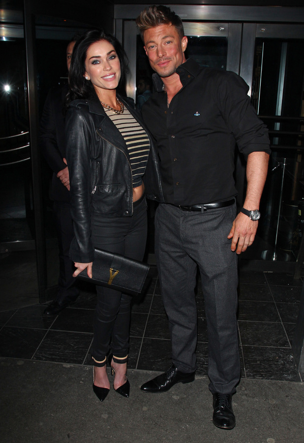 Duncan James and Jasmine Waltz having dinner at the Buddha-Bar in Knightsbridge, 17 January 2014