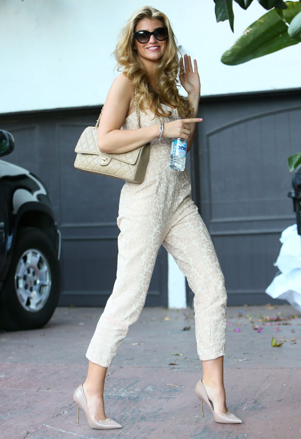 Amy Willerton spends her first day in LA heading to business meetings. 14 January 2014