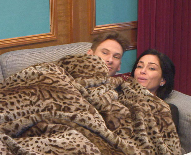 Celebrity Big Brother 2014: Lee and Jasmine cuddle up in the treehouse, aired 14 January 2014