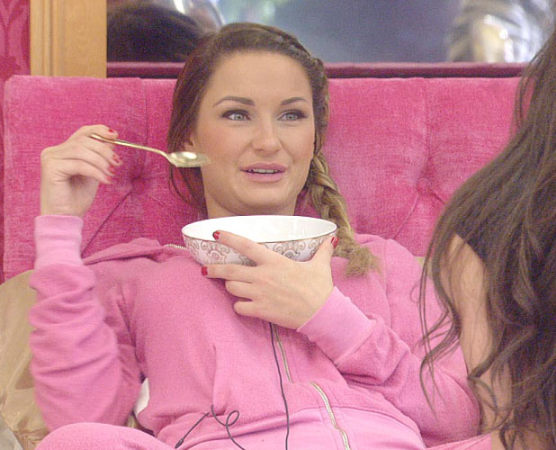 Celebrity Big Brother 2014: Sam Faiers in the bedroom, aired 14 January 2014