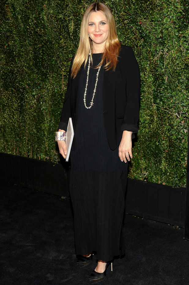 Drew Barrymore at a dinner hosted by Chanel for Drew's photography book 'Find it in Everything', Los Angeles, America - 14 Jan 2014