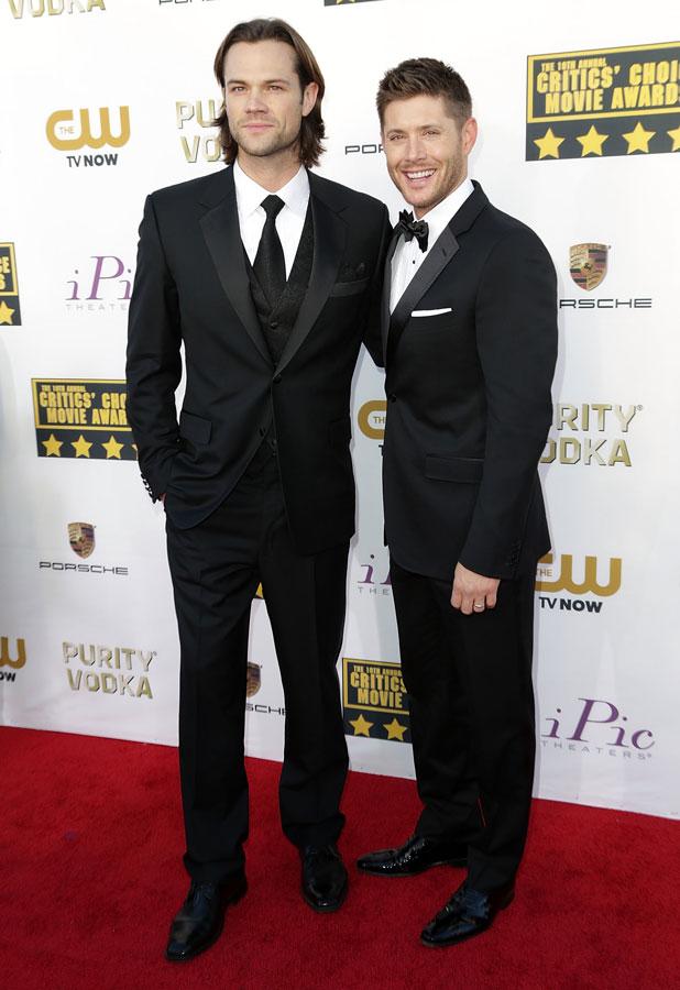 Jensen Ackles and Jared Padalecki at The 19th Annual Critics' Choice Awards at The Barker Hangar, 16 January 2014