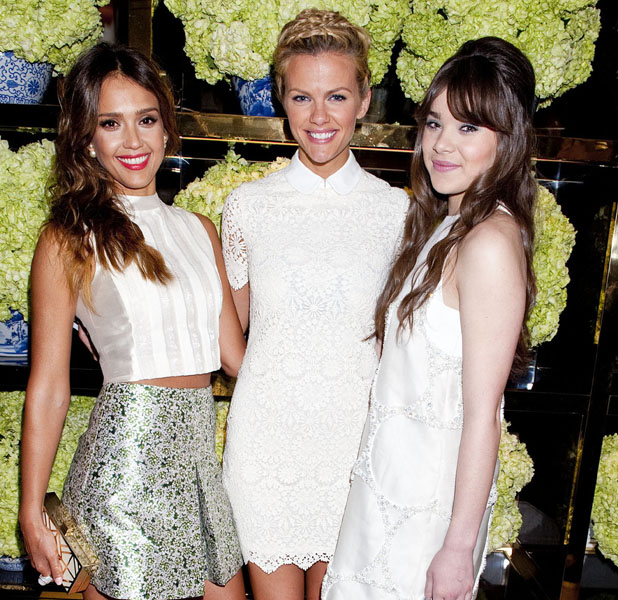 Jessica Alba at Tory Burch store opening on 15 January 2014