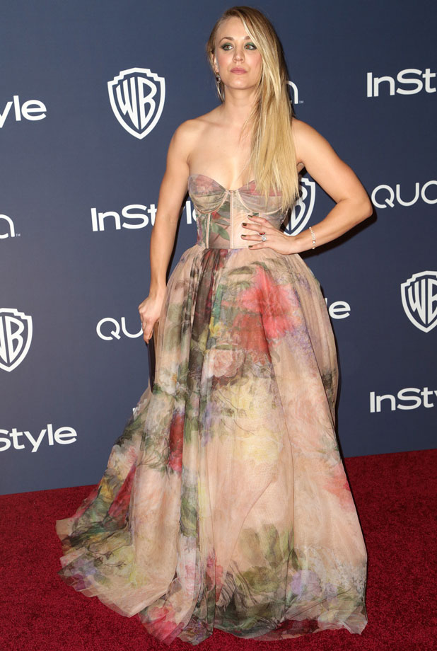 Kaley Cuoco, 71st Annual Golden Globe Awards, Warner Bros and InStyle After Party, Los Angeles, America - 12 Jan 2014