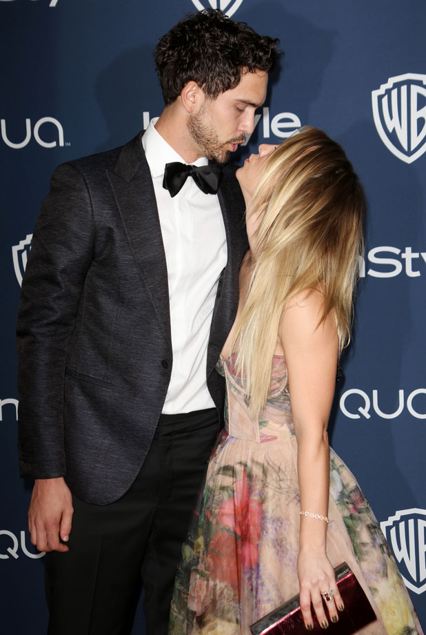 Kaley Cuoco and Ryan Sweeting, 71st Annual Golden Globe Awards, Warner Bros and InStyle After Party, Los Angeles, America - 12 Jan 2014