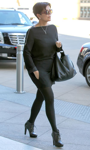 Kris Jenner goes to a business meeting in Century City, 15 January 2014