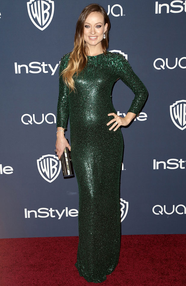 Olivia Wilde, 15th Annual Warner Bros and InStyle Golden Globe Awards After Party, held at the Oasis Courtyard at the Beverly Hilton Hotel, 12 January 2014
