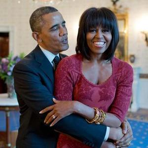 Barack Obama poses with wife Michelle on her birthday (17 January 2014).