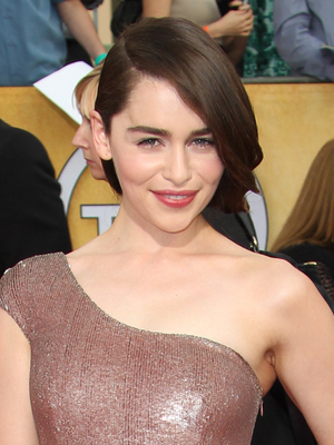 Emilia Clarke, The 20th Annual Screen Actors Guild (SAG) Awards held at The Shrine Auditorium - Arrivals, 18 January 2014