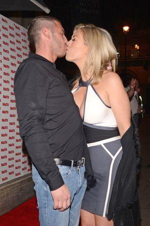 Celebrities leaving Nuts 10th Anniversary Party, Aura, London, Britain - 23 Jan 2014 Frankie Essex and boyfriend John