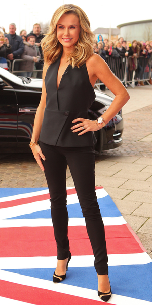 Arrivals for the Cardiff round of auditions for Britain's Got Talent Amanda Holden 01/23/2014 in Cardiff, United Kingdom