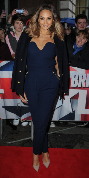 Alesha Dixon wears navy jumpsuit to Britain's Got Talent auditions on 18 January 2014