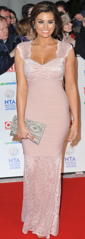 Jessica Wright at the National Television Awards, held at The 02 Arena in London, 22 January 2014