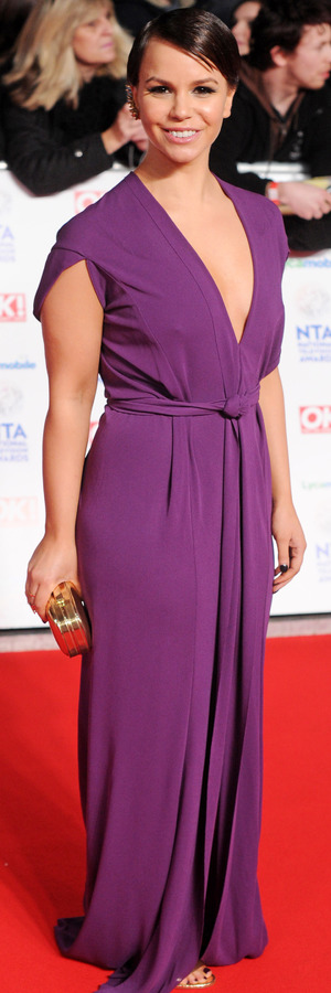 Hollyoaks star Jessica Fox at the National Television Awards held at The 02 Arena in London, 22 January 2014