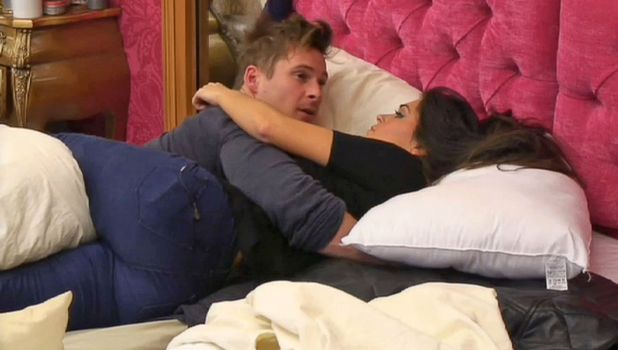 Casey Batchelor and Lee Ryan in bed together in the CBB house, 25 January