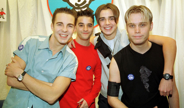 Boyband A1 at Hamleys in London - 1999