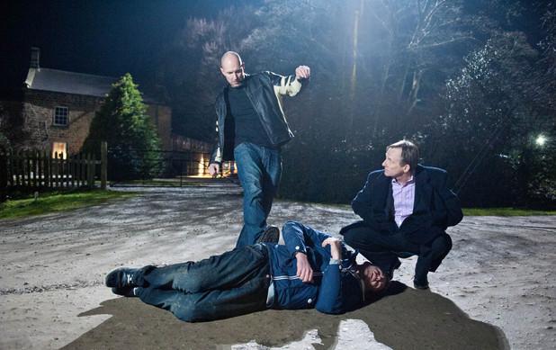 Emmerdale, Dan is beaten up, Fri 24 Jan