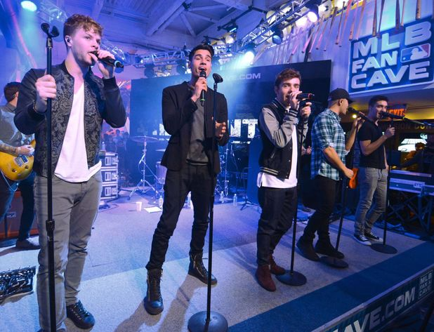 The Wanted - Jay McGuiness, Max George, Tom Parker, Siva Kaneswaran, Nathan Sykes The Wanted at The MLB Fan Cave, New York, America - 05 Nov 2013.