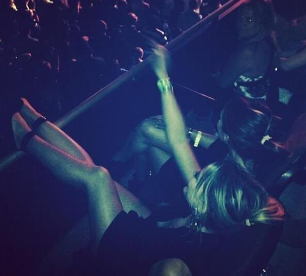 Hilary Duff at Justin Timberlake's concert in Los Angeles. (21 January 2014).