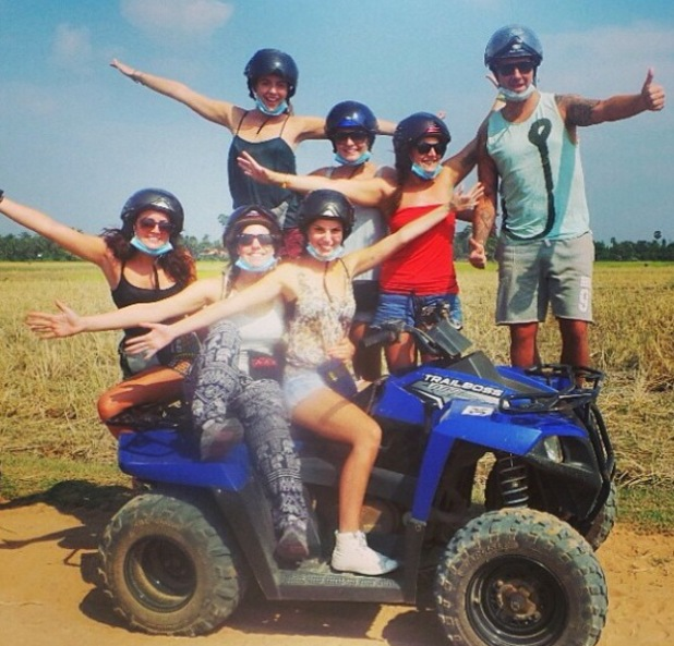 Lydia Bright goes quad biking for her birthday in Cambodia (20 January 2014).