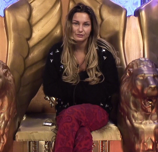 Sam Faiers is seen talking in the diary room about Liz Jones on Celebrity Big Brother's Bits on the Side'. Shown on Channel 5 HD - 21 JANUARY 2014