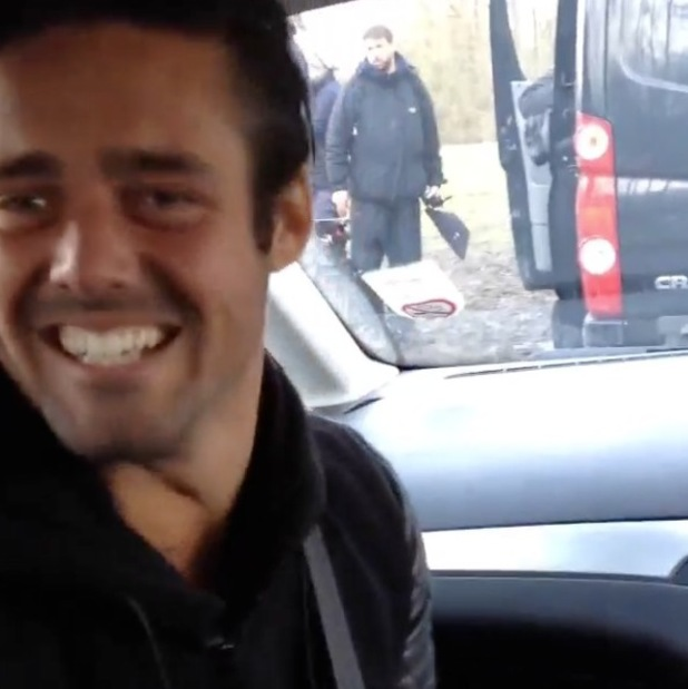 Made In Chelsea: Spencer Matthews filming (23 January).